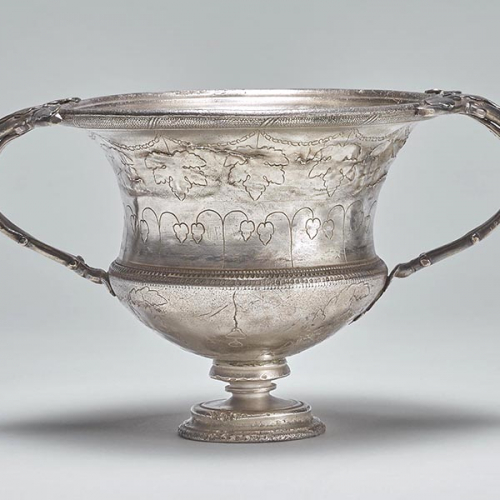 Drinkbeker (carchesium) zilver 200-270 n.Chr. Chaourse (FR) © The Trustees of the British Museum (groot)
